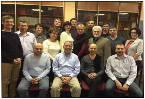 Bob with his students, largely the faculty and administration of the Moscow Theological Institute